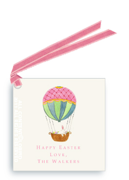 Hot Air Balloon with Easter Rabbit - Gift Tags
