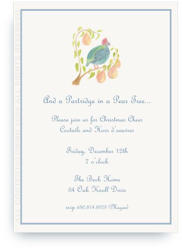Partridge in a Pear Tree - Invitations