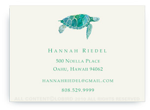 Sea Turtle - Calling Cards