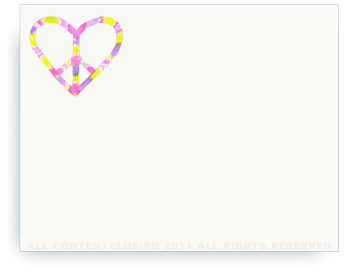 """Peace Heart - Non-Personalized Note Cards (4.25"""" X 5.5"""")"""