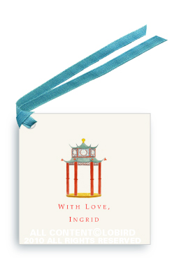 Chinoiserie Pagoda Pavilion - Gift Tags