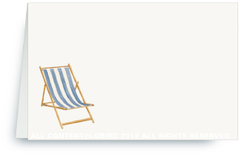 Beach Chair - Blue -Place Cards