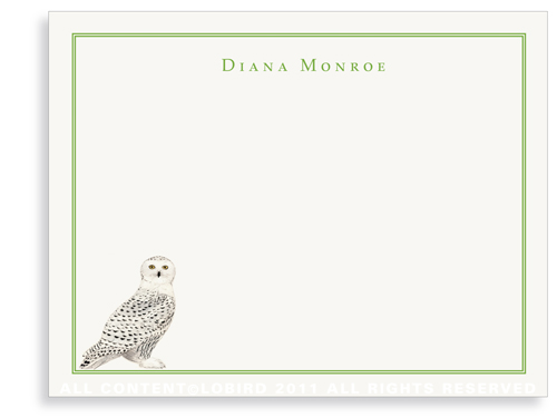 Snowy Owl - Flat Note Cards