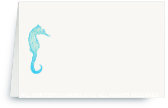 Seahorse 傍urquoise - Place Cards