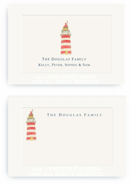 New England Light House - Enclosure Cards