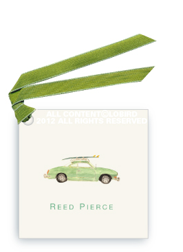 Vintage Surf Car -Gift Tags