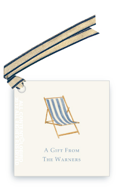 Beach Chair - Blue -Gift Tags
