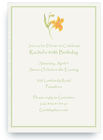 Peruvian Lily - Invitations
