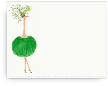 "Ostrich - Jaqueline - Non-Personalized Note Cards (4.25"" X 5.5"")"