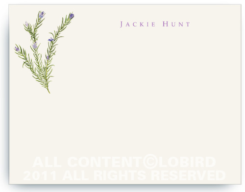 Rosemary - Flat Note Cards