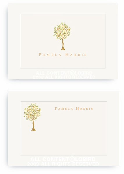 Tangerine Tree - Enclosure Cards