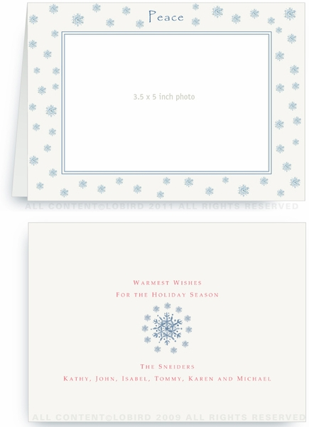Blue Snowflake - Photo Greeting Cards