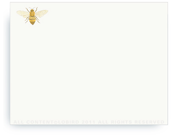 "Bee - Non-Personalized Note Cards (4.25"" X 5.5"")"