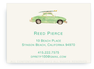 Vintage Surf Car - Calling Cards