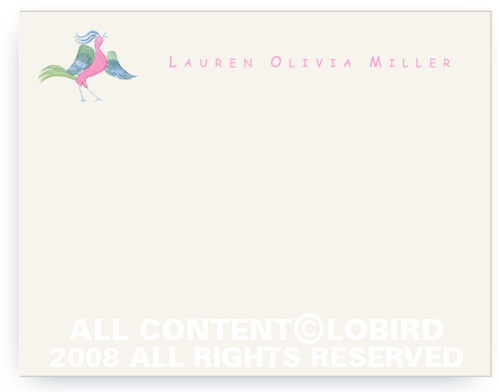 Pink Belly Lobird - Note cards