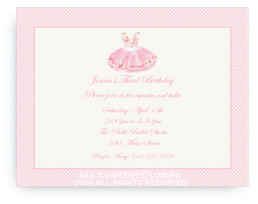 Sugar Plum Ballet Dress - Invitations
