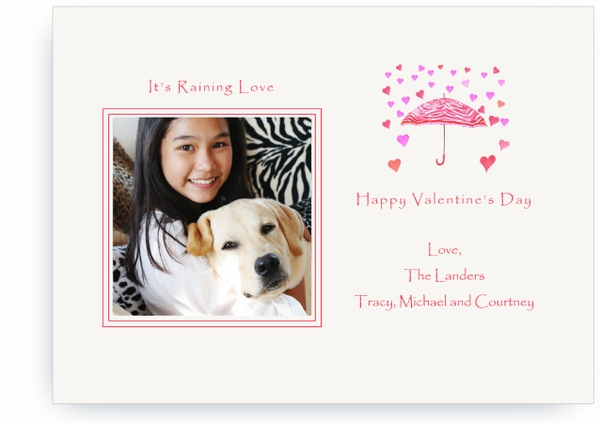 Raining Love - Photo Valentines Card