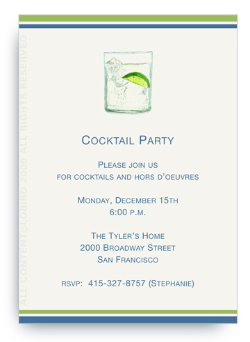 Gin and Tonic - Invitations