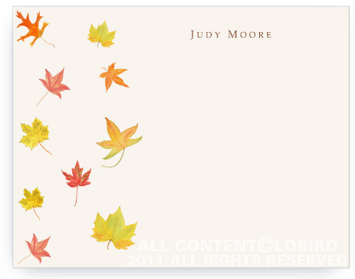 Autumn Leaves - Flat Note Card