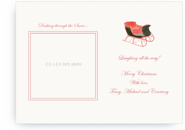 One Horse Sleigh - Photo Greeting Cards