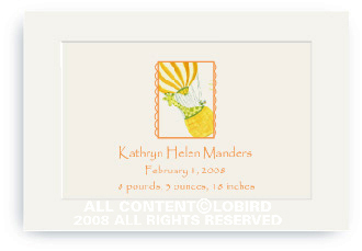 Giraffe Ballooning - Enclosure Cards