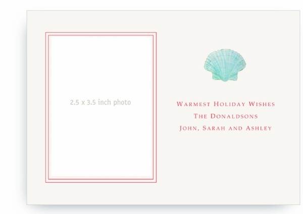 Aqua Green Scallop Sea Shell - Photo Greeting Cards