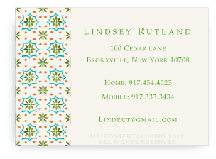 Talavera Tile - Green/Turquoise - Calling Cards