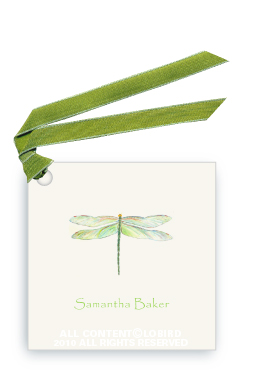 Dragonfly - Green - Gift Tags