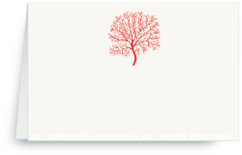 Coral Fan - Red  - Place cards