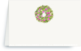 Spring Wreath - Place Cards