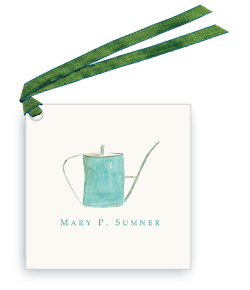 Turquoise Watering Can - Gift Tags