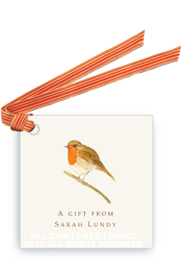 British Robin - Gift Tags