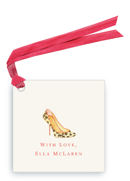 Leopard Pumps - Gift Tags