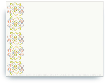 "Tapestry - Paloma - Non-Personalized Note Cards (4.25"" X 5.5"")"