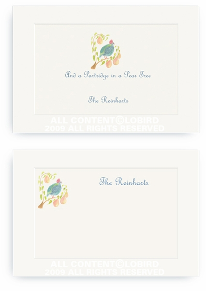 Partridge in a Pear Tree - Enclosure Cards