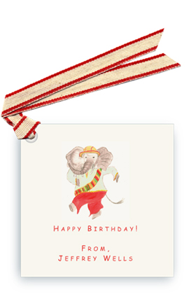 Dancing Elephant - Gift Tags