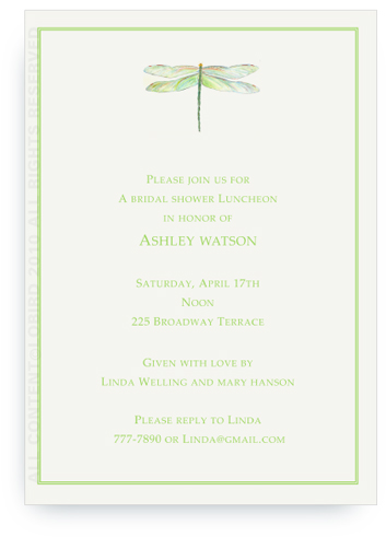 Dragonfly - Green - Invitation