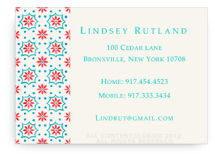 Talavera Tile - Red/Turquoise - Calling Cards