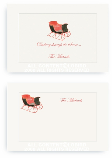 One Horse Sleigh - Enclosure Cards
