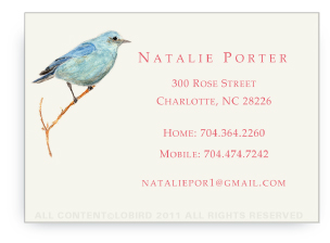Mountain Blue Bird - Calling Cards
