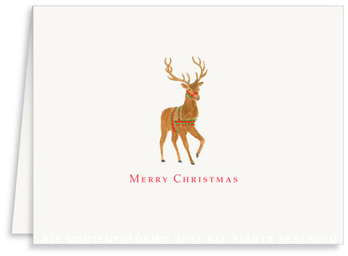 Norwegian Reindeer - Holiday Greeting Card