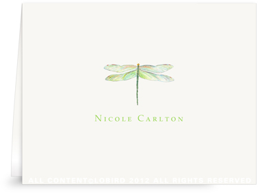 Dragonfly - Folded Note Cards