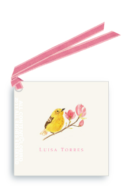 Warbler on Magnolia Branch 2 - Gift Tags