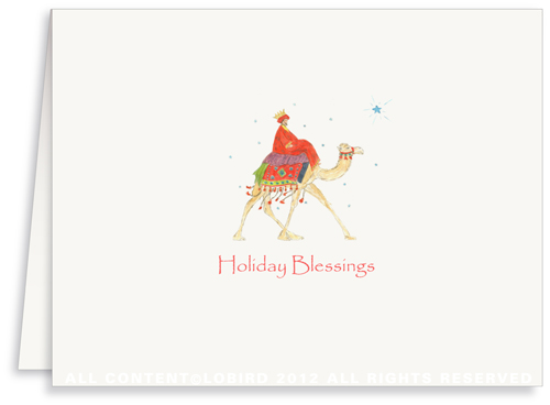Wiseman on Camel - Holiday Greeting Card