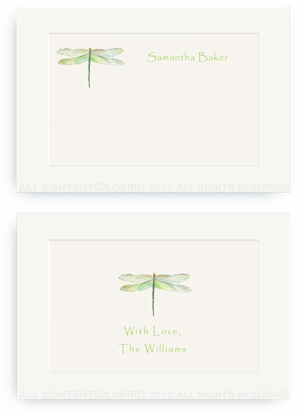 Dragonfly - Green - Enclosure Cards