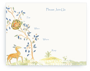Tapestry - Portuguese Forest 1 - Fill-in Invitations