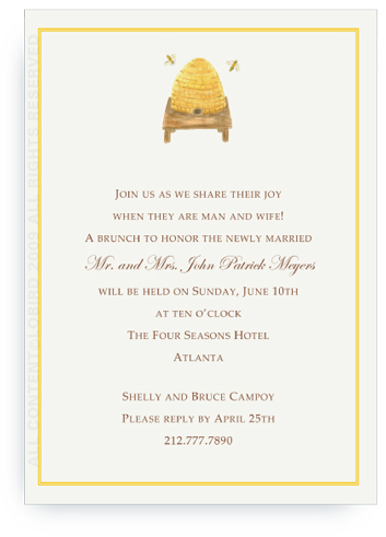 Bee Hive - Invitations