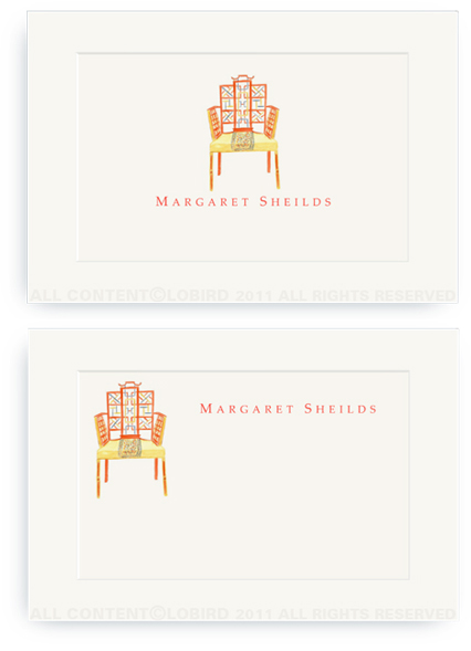 Chinese Chippendale Chair - Enclosure Cards