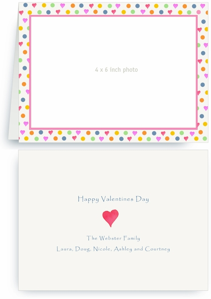 Mixed Dots and Hearts - Photo Valentines Card