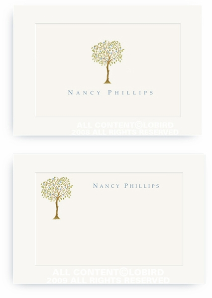 Italian Blue Fruit Tree - Enclosure Cards